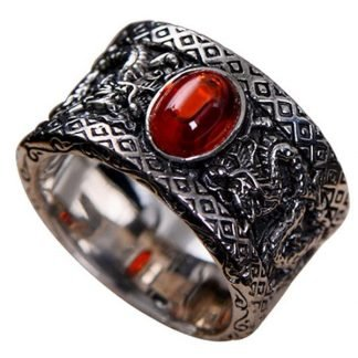 Fantasy Red Stone Ring