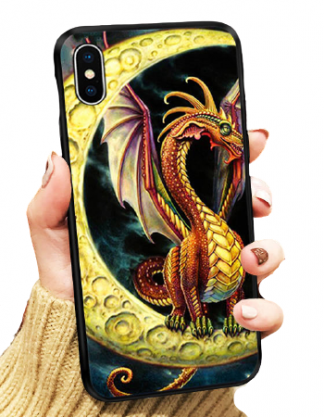 Moon Dragon iPhone Case