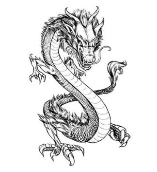 Temporary Dragon Sleeve Tattoo