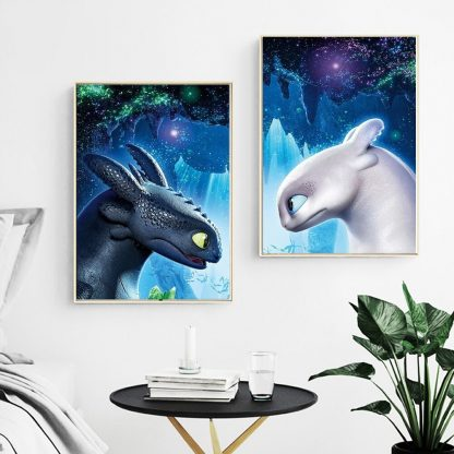 canvas Toothless Dragon