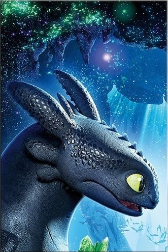 Toothless Dragon painting