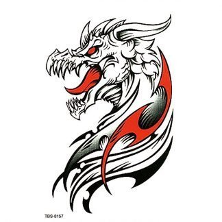 Western Temporary Dragon Tattoo