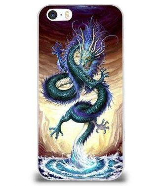 Blue Sea Dragon iPhone Case