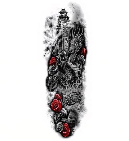 chinese dragon ephemeral tattoo