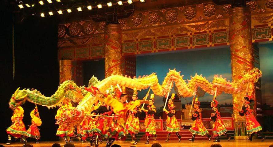 dragon lion dance