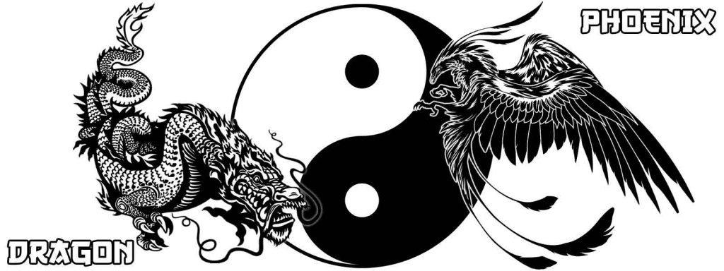dragon and phoenix yin yang