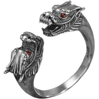double headed dragon ring