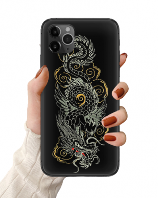 Embroidered Dragon iPhone Case