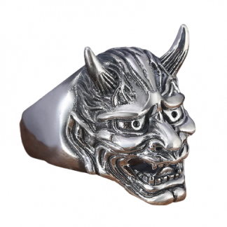 Hannya Mask Ring Silver