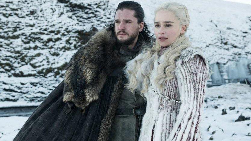 JSnow and Daenerys Targaryen season 8