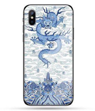 Blue Porcelain Dragon iPhone Case