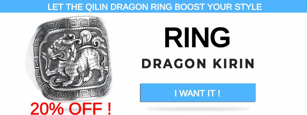 qilin kirin dragon ring